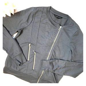 Rock & Republic Gray Full Zip Sweater Jacket Bh097